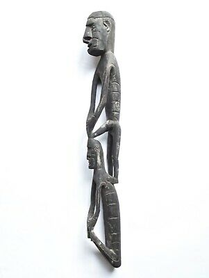 Tribal Artifact of Male Ancestor Figure Standing on Top of Female Sitting Lot 04