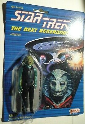 Star Trek TNG Galoob Selay Action Figure 1988 on card complete,