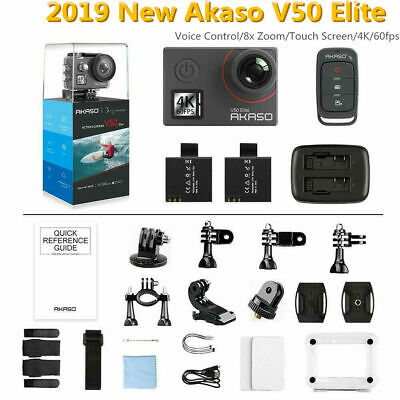 Akaso V50 Elite 4K Action Camera 2019 New Touch Screen+All Accessories+IR Remote