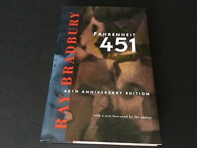 FAHRENHEIT 451 Book HCDJ Hand Signed In Ink By Ray Bradbury