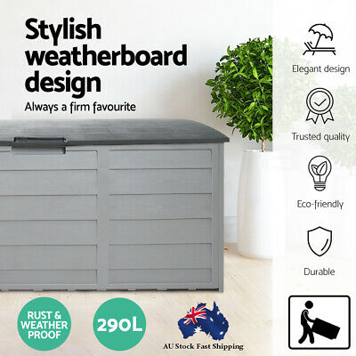 Garden 290L Outdoor Storage Lockable Box Weather Proof and Rust-free body