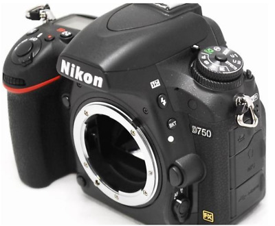 Nikon D750 DSLR Camera FX-format CMOS 24.3MP 36 Languages (Body Only) None Wi-Fi