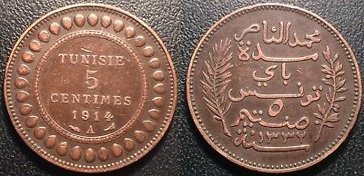 Tunisia - Protectorate French - Muhammad in N, Bey - 5 Cents 1914 a To