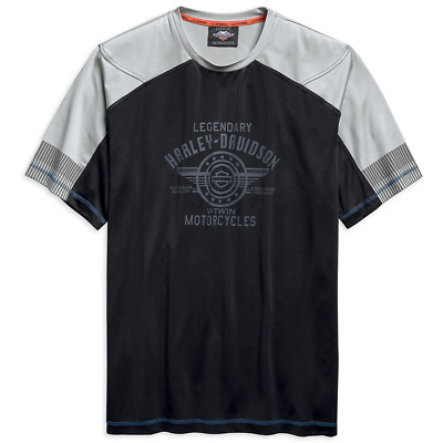 Harley Davidson Mens Performance Short Sleeve T-Shirt Black 96684-19VM