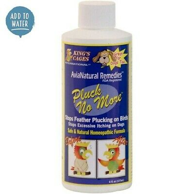 PLUCK NO MORE - NATURAL FEATHER PLUCKING REMEDY - 177 ml - By KING'S CAGES