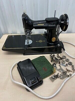 Vintage Singer 221K Featherweight Sewing Machine GWO With Red S 230/250V Motor