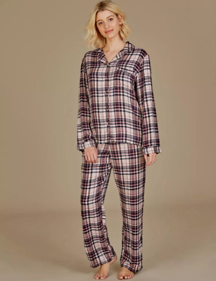 Brand New Ex M/&S 100/% Cotton Checked Pyjama Set Sizes 8-10-12-14-16-18
