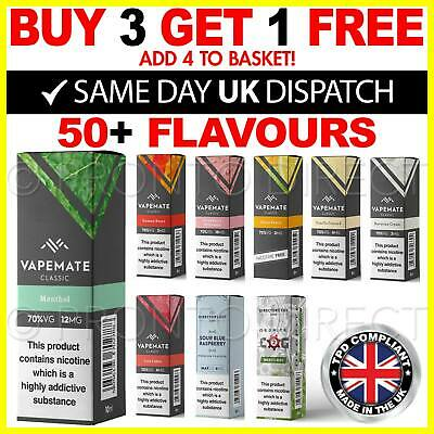 VAPEMATE E Liquid Premium Vape Juice 70VG All Nicotine Strengths High Quality