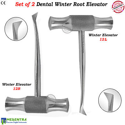 Winter Elevators Root Extraction 12L / 12R Oral Surgery Veterinary Instruments