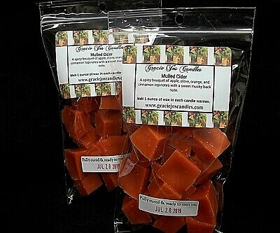 MULLED CIDER Scented Tart Wax Melt Chunks Home Candle Halloween Autumn Christmas