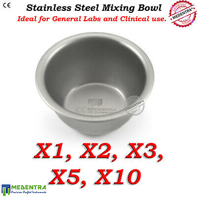 Stainless Steel Mixing Bowls Cup Medical Laboratory Dental Bowl Multipurpose Pot