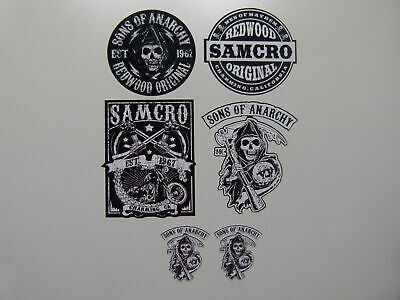 6x Motorrad Aufkleber SOA Sons of Anarchy Samcro Club Biker Outlaw 1% V2 MG602