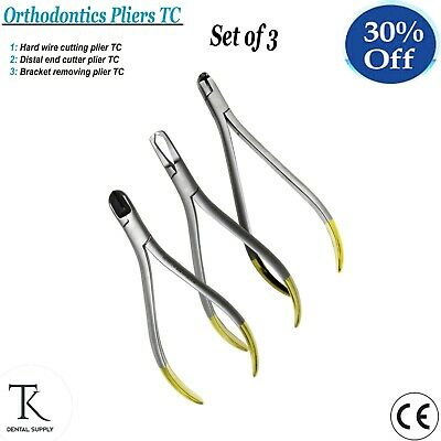 Dental Orthodontics Pliers Set Distal Wires Cutter Braces Remover Plier