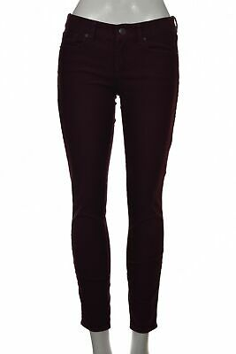 J Crew Toothpick Womens Pants Size 26 Ankle Mulberry Purple Corduroy Skinny