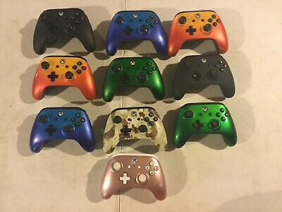 Lot of 10 Microsoft Xbox One PowerA Wired Enhanced Controllers Untested AS-IS