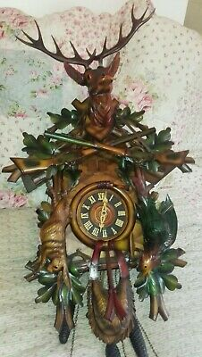 Massive black forest musical cuckoo clock