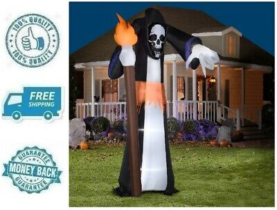 New Yard Inflatable Reaper Giant Airblown Ghost Outdoor Halloween Decor Prop