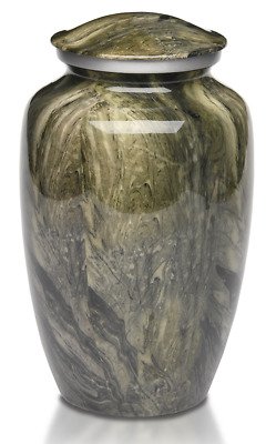 Green Swirl Urns for Human Ashes Adult Size
