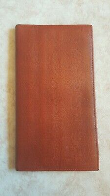 Vintage Brown Tan Leather Wallet Made In England