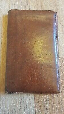 Brown Calf Leather Wallet Made In England Vintage By Black Prince