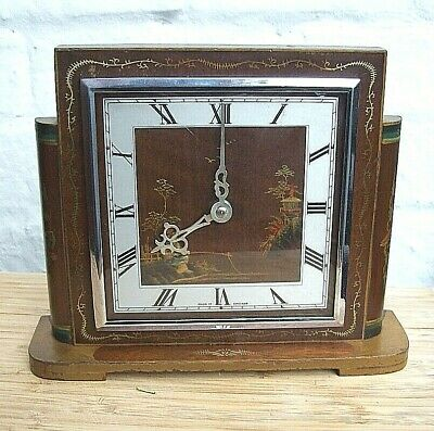 Art Deco Smiths Chinoiserie Mantle Clock Circa 1938