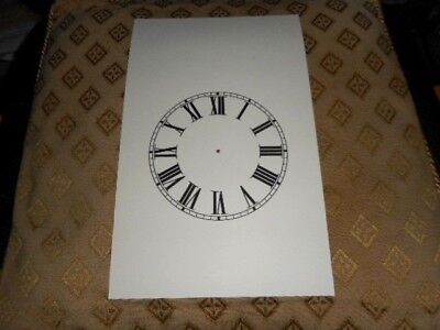 "Steeple Paper (Card) Clock Dial- 5"" M/T-Roman Numerals-MATT CREAM-Parts /Spares"