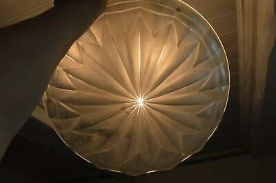 Original 1930s  French Art Deco frosted glass light shade
