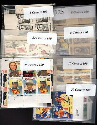 US Postage Below Face, FREE SHIPPING, $110 Face Value for only 76.95 Lot 125