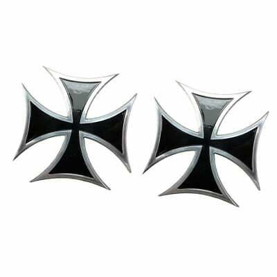 Maltese Iron Cross Emblem Badge - Black - Billet