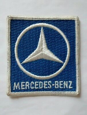 Mercedes Benz Embroidered Blue White Sew On Uniform Patch Advertising