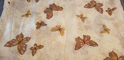 **SALE**Vintage Queen Marico Pocket Waterbed Sheet Flat Fitted in One Butterfly