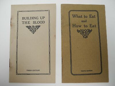 Dr. Williams Medicine Pink Pills Booklets Building Up The Blood & What to Eat