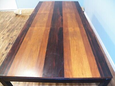 Mid Century Milo Baughman Teak Walnut Rosewood Dining table Directional