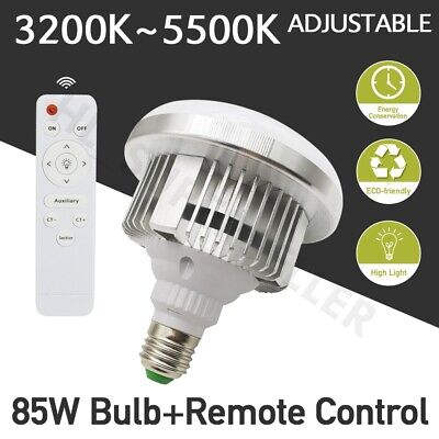 Adjustable E27 85W Energy Saving LED Light Bulb Lamp Photography Remote Control