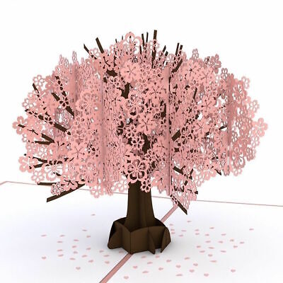 Big Cherry Blossom high quality popup greeting card **Best price in Australia**