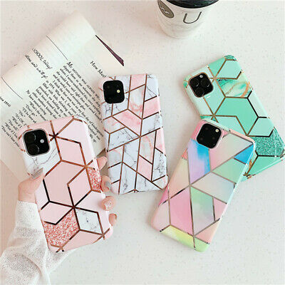 For iPhone 11 Pro Max Xs XR X 6 7 8 Plus Marble Hybrid Soft TPU Back Case Cover