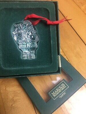 Marquis Waterford Crystal Glass Santa Christmas Holiday Ornament in box