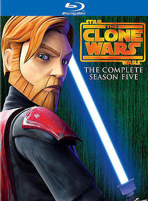 Star Wars: The Clone Wars - The Complete Season Five (Blu-ray Disc, 2013,...