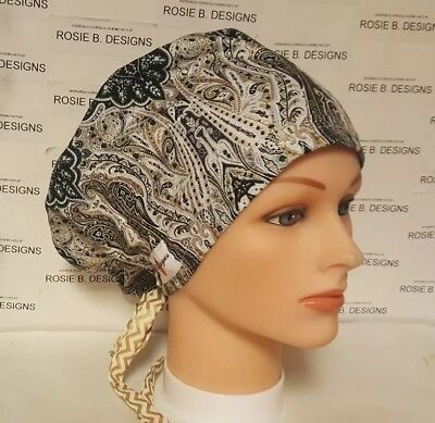 SPARKING  GREEN PIXIE HAT// SCRUB SURGICAL// MEDICAL//NURSES//OR//DRS