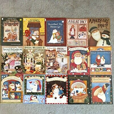 Lot of 28 Tole Painting Books - Various Artists