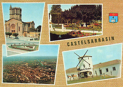 Carte CASTELSARRASIN Multivues dont Moulin de Jacobert