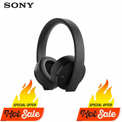 Genuine Sony Ps4 Gold Wireless Headset 7.1 Playstation 4 Headset - Black
