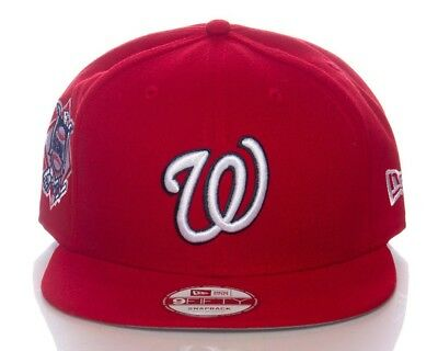 Washington Nationals New Era 9FIFTY MLB Red Adjustable Snapback Hat Baseball Cap