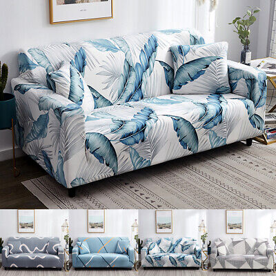 Sofa Covers Couch Slipcover Stretch Elastic Fabric Settee Protector 1-4 Seat