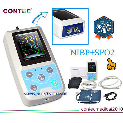 FDA CE PM50 Portable Patient Monitor Vital Signs NIBP SPO2 Pulse Rate Meter