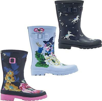 Joules WELLY PRINT Girls Rubber Wellies Rubber Wellington Boots Waterproof