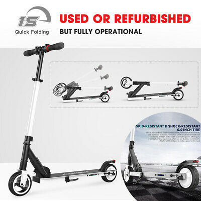 USED Folding Electric Scooter 250W 14MPH Aluminum Portable City E-Scooter -White