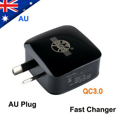 AU Plug 18W USB Power Wall Adapter 5V 2.4A Fast Charger Charging PD Port QC 3.0