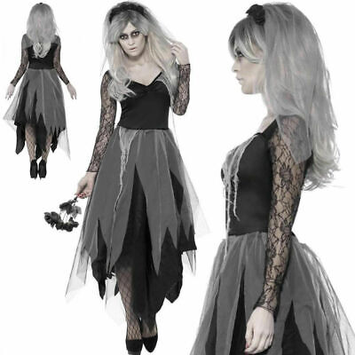 Halloween Zombie Bride Cosplay Women's Costume Ghost Corpse Fancy Dress Outfit