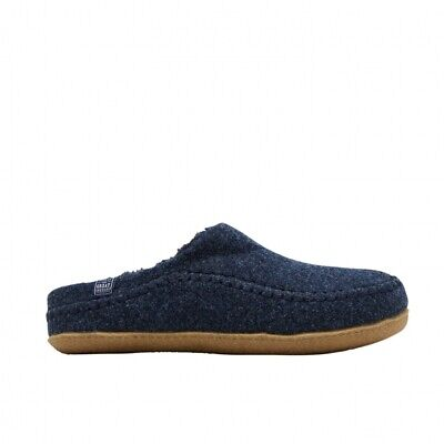 Joules FELT MULE Warm Comfortable Textile Mens Slip On Mule Slippers Navy Marl
